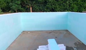 polystyreenblokken bouwkundig zwembad